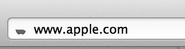Apple's favicon at half mast