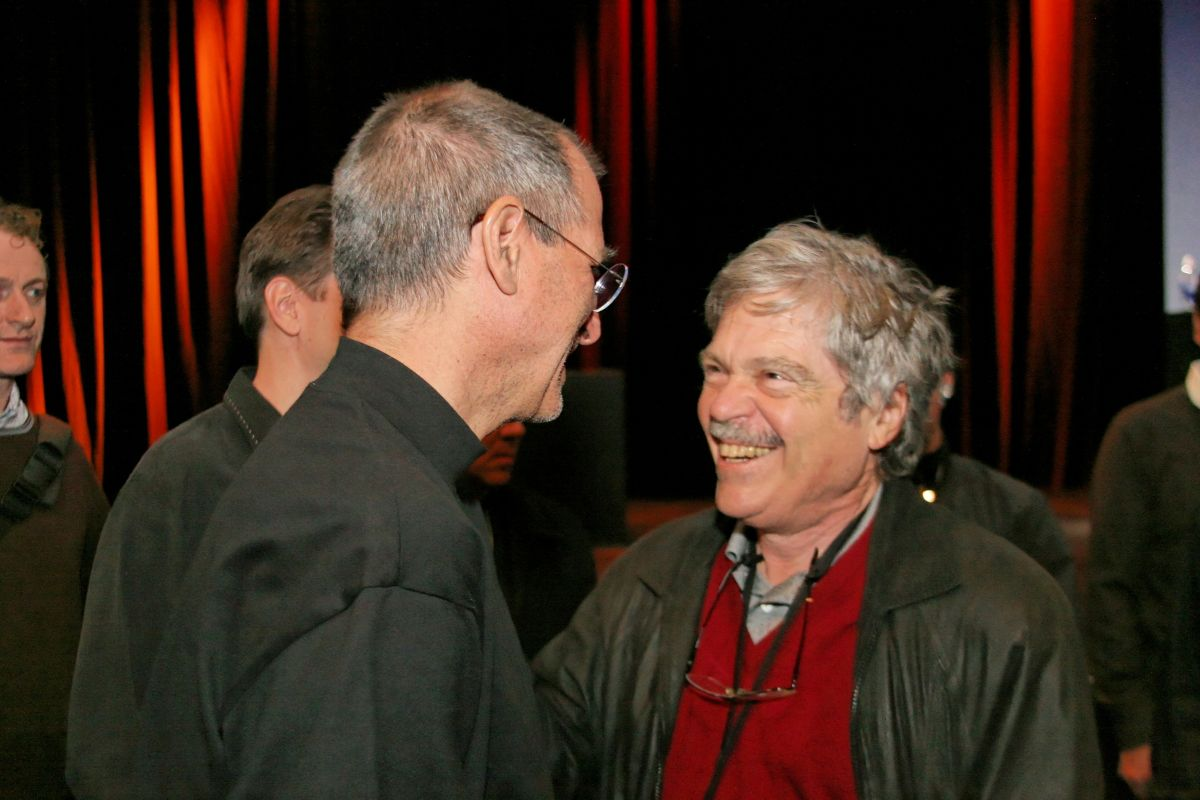 Steve Jobs and Alan Kay after the Macworld 2007 keynote, 9 Jan 2007