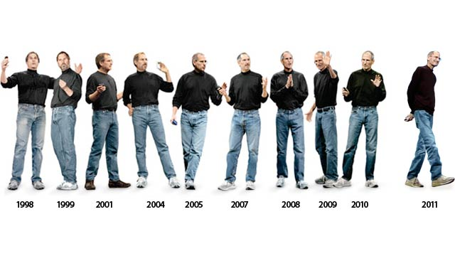 A montage of Steve's outfits since his return to Apple