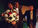 Steve Wozniak, Steve Jobs and Apple CEO Gil Amelio at the Macworld keynote