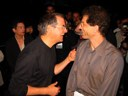 Steve Jobs has a laugh with Jon Rubinstein