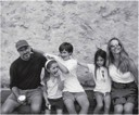 Steve Jobs with his wife Laurene and their children Eve, Reed and Erin