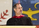 Steve Jobs delivering the commencement address to Stanford in 2005