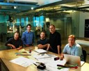 Apple key SVPs involved with iPod pose with Steve Jobs in the Industrial Design lab: Tony Fadell, Jon Rubinstein, Jony Ive and Phil Schiller