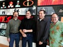 Ed Catmull, Steve Jobs, Bob Iger and John Lasseter announcing the Pixar-Disney merger