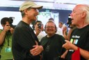 Steve Jobs, Andy Hertzfeld and Bill Atkinson at the iPhone Launch in Palo Alto