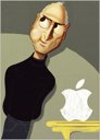 Caricature of Steve Jobs by Eric Palma for The New York Times