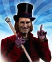 Steve Jobs as Willy Wonka