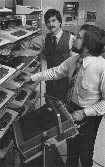 1977 - Steve and Woz at an Apple II warehouse