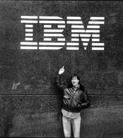 1983 - Steve at the IBM HQ ;)