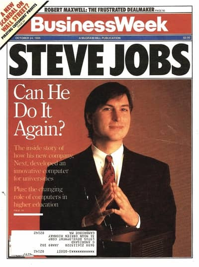 24 Oct 1988 - Steve Jobs holds a press conference after the NeXT Cube introduction
