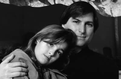 1989 - Steve Jobs with his daughter Lisa