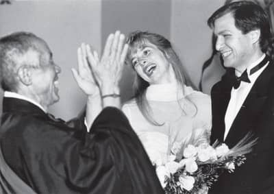 18 Mar 1991 - Steve Jobs' wedding with Laurene Powell, presided over by Kobun Chino