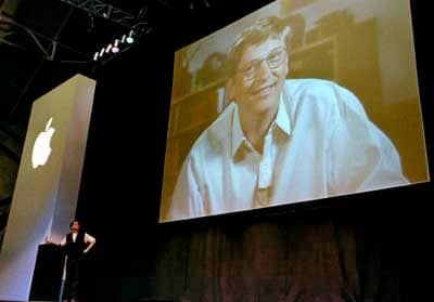 6 Aug 1997 - Steve Jobs introduces Bill Gates and the Microsoft deal at Macworld NY 1997