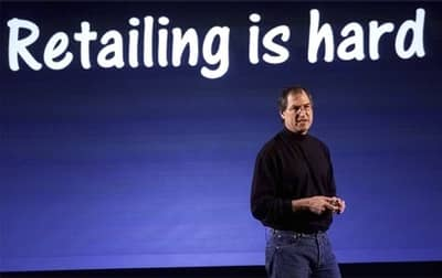 15 May 2001 - Steve Jobs holds a press conference introducing Apple Retail Stores