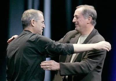 6 Jun 2005 - Steve Jobs with Intel CEO Paul Otellini at WWDC 2005
