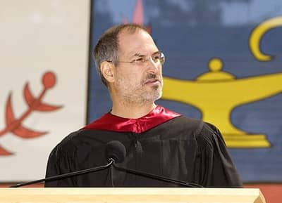 12 Jun 2005 - Steve Jobs delivering the commencement address to Stanford in 2005