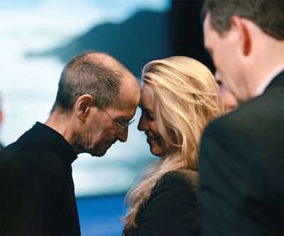 6 Jun 2011 - Steve and his wife Laurene after the iCloud introduction, his last keynote
